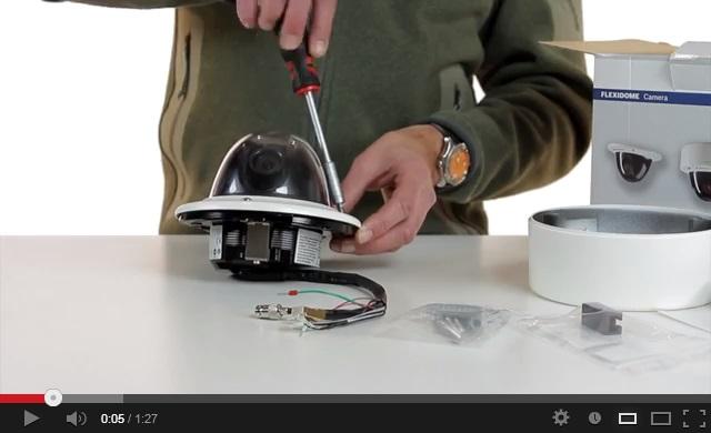 A Flexidome HD VR IP-kamera telepítése