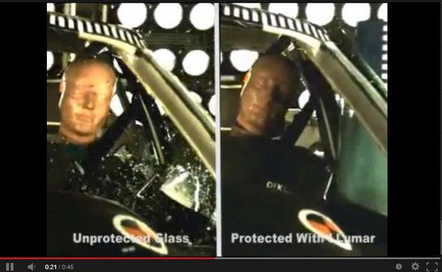 Biztonságos üvegfelületek Llumar biztonsági üvegfóliával