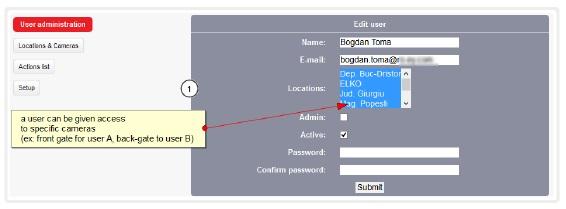 Felhasználói beállítások / hozzáférések, engedélyek beállítása