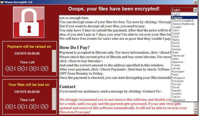 WannaCry fertőzés - vírusvédelem a halaszthatatlan teendők tükrében Forrás: http://index.hu/tech/2017/05/15/zsarolovirus_vedekezes_kiberbiztonsag/