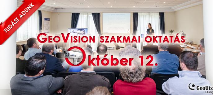 GeoVision újdonságok – ha október, akkor workshop Forrás: GeoVison H. Kft