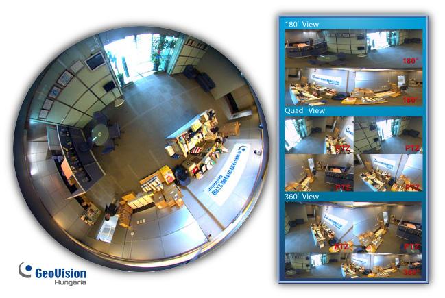 Holttérmentes megfigyelés - GeoVision FishEye kamerák Forrás: https://geovision.shop.hu/termekek/geovision-ip-kamerak/fisheye-kamerak/