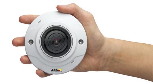 HDTV felbontású beltéri mini dómkamera (Forrás: Axis)