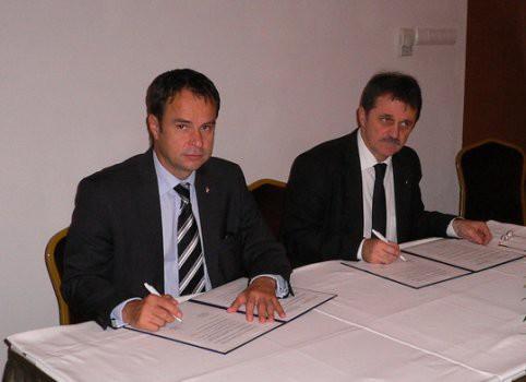 Zala Mihály, az NBF elnöke és Német Ferenc a Személy-, Vagyonvédelmi, Magánnyomozói Szakmai Kamara elnöke