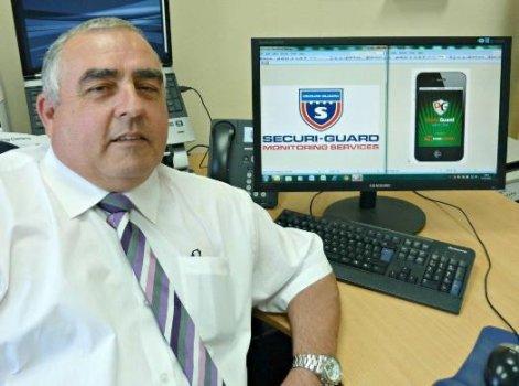 Pete Stanley, az alkalmazást készítő Plymouth-i Securi-Guard vezetője