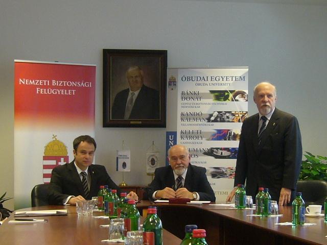 Zala Mihály, prof. dr. Rudas Imre, dr. Gáti József