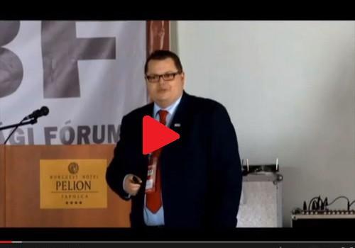 Noth Péter áruvédelmi szakértő előadása a II. MBF konferencián