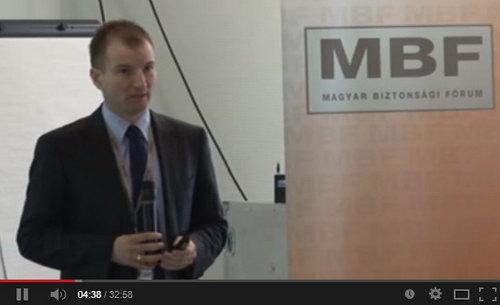 Az Aspectis ügyvezetője, Bata Miklós Amatőr operatőrök címmel tartott előadást az MBF III. konferenciáján
