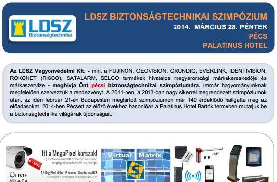 LDSZ biztonságtechnikai szimpózium Pécsett