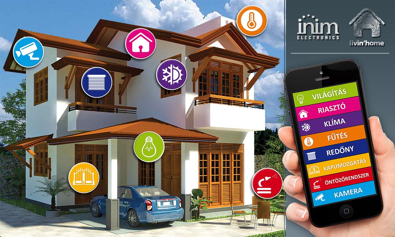 Inim épületautomatizálás. SmartLiving intelligens megoldások