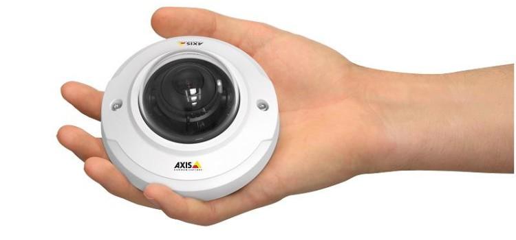 Új Axis mini dóm kamerák a diszkrét beltéri videó megfigyeléshez. HDTV képminőség Forrás: Aspectis Kft
