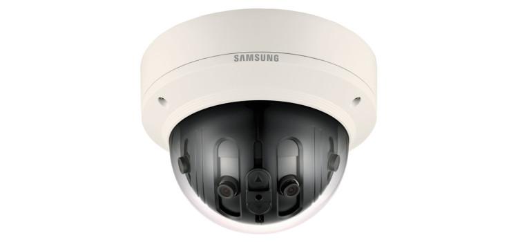 Új Hanwha/Samsung 180°-os panoráma IP CCTV kamera