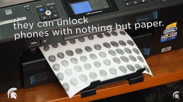 Feltörhető a telefonos ujjlenyomat-olvasó? Naná, némi macerával. Forrás: Michigan State University