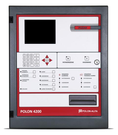 Polon 4200-as központ 4 hurokkal, 4 x 64 címzett eszközzelForrás: Astal Security Kft
