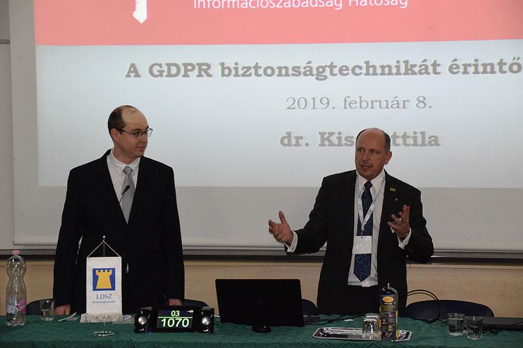 Balra: Dr Kiss Attila NAIH és Szabó László LDSZ Kft