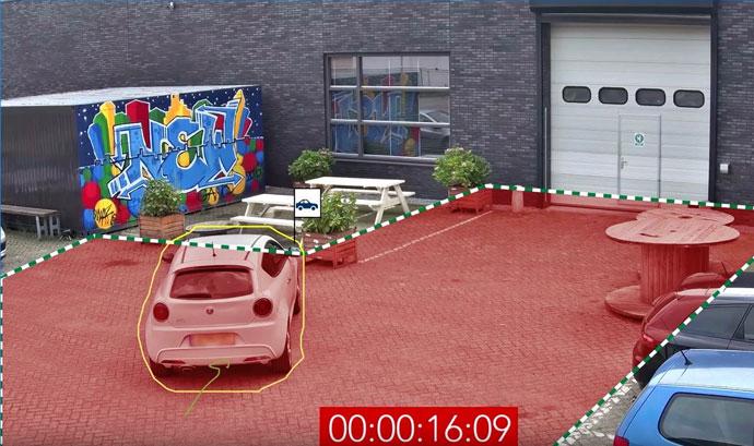 Parkolás nem a kijelölt helyenForrás: Bosch Biztonságtechnika