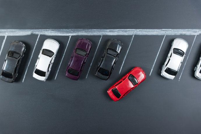 Szabad parkolóhelyek felismeréseForrás: Bosch Biztonságtechnika